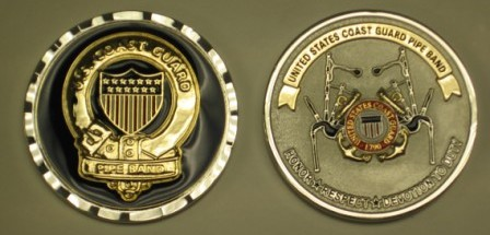 USCG Pipe Band Coin