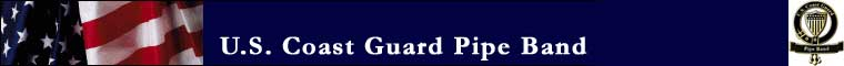 USCG Pipe Band logo banner