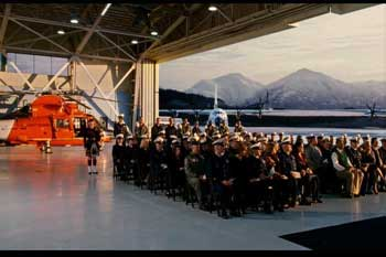 USCG Pipe Band in movie